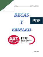 Boletín de Becas y Empleo. Semana Del 24 de Noviembre de 2014