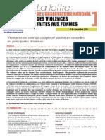 La Lettre de l'Observatoire des violences faites aux femmes - novembre 2014