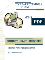 Overview of the District Health Information System for Tembisa
