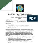UT Dallas Syllabus for rhet1101.016.07f taught by Karen Jarrell (karenl)