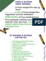 15 Widsom & Success
