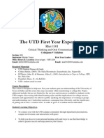 UT Dallas Syllabus for rhet1101.006.07f taught by Kathryn Torres (kbt043000)
