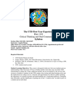 UT Dallas Syllabus for rhet1101.028.07f taught by Angelia Pinaga (axp017500)
