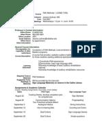 UT Dallas Syllabus for comd7v90.001.07f taught by Linda Thibodeau (thib)