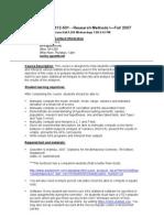 UT Dallas Syllabus for hcs6312.501.07f taught by Dana Roark (danar)