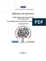 OSCE Needs Assessment Report Moldova Elections