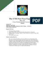 UT Dallas Syllabus for rhet1101.039.07f taught by April Liang (aliang)