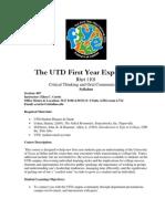 UT Dallas Syllabus for rhet1101.007.07f taught by Ellen Curtis (ecc061000)
