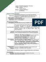 UT Dallas Syllabus for ba4309.001.07f taught by Leeann Butler (lab054000)