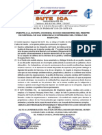 Nota de Prensa-Solidaridad con el Frente de Defensa de Marcona