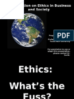 Ethics Power Point
