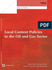 Local Content Policies in the Oil and Gas Sector