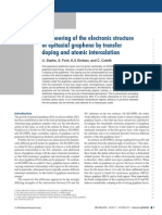 Engineering of the electronic structure of epitaxial graphene by transfer doping and atomic intercalation