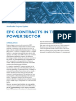 Epc Contracts in the Power Sector