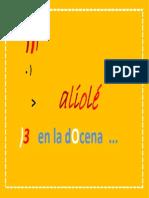 aliolé / 13 en la docena
