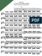 Schradieck School of Violin Technique Bk2