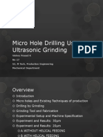 Micro Hole Drilling Using Ultrasonic Grinding