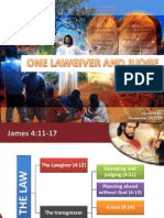 4th Quarter 2014 Lesson 9 One Lawgiver and Judge Powerpoint Presentation