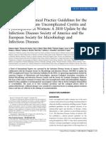 UTI Guidelines IDSA 2010