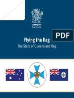 Flying the Flag the State of Queensland Flag
