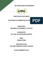 Analisis de La Realidad Economica de Honduras 2012