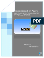 Project Report AnSys Workbench - Nithin L Devasia