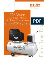 Dr. Vayu Reciprocating Oil Free Air Compressor