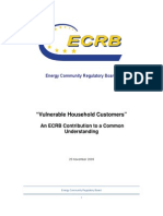 Vulnerable Household Customers - An ECRB Contribution to a Common Understanding