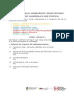 Módulos Guía Para Elaborar Plan de Empresa