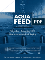 Algae in ornamental fish feeding