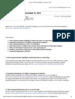 Gmail - NCDPI Web Highlights - November 21, 2014