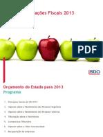 BDO Seminario OE 2013 Apresentacoes