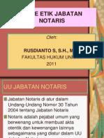 Kode Etik Jabatan Notaris
