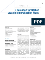 Material Selection for CO2 Mineralization Plant
