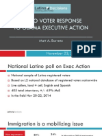 National Poll of U.S. Latinos Finds Overwhelming Support For Executive Action on Immigration