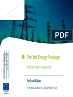 The 3rd Energy Package and Its Main Measures, DGTREN