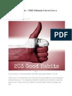 203 Good Habits