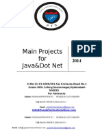 Main PRoject List for Csc It