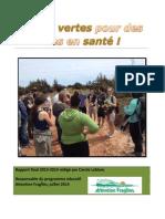Rapport Final-Écoles Vertes Pour Des Îles en Santé - Caisses 2013-2014