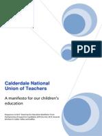 PPC NUT Education Manifesto Responses FINAL