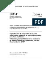 Pruebas de Llamadas Basicas T REC Q.784.1 199607 I!!PDF S