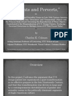 """Charles E. Colman, """"Patents and Perverts"""" (presentation on work-in-progress, given at Nov. 2014 Marquette Law """"Mosaic"""" conference)"""