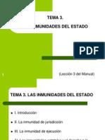 Tema 3. Las Inmunidades Estatales (1)