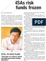 Tardy NSAs risk having funds, 13 Dec 2009, Straits Times