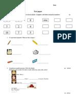 Test Engleza Clasa a III-A
