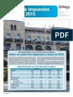 Tasas e Impuestos 2015