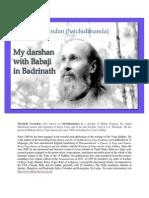 My Darshan of Babaji in Badrinath En