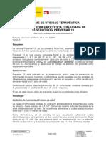 Vacuna_Prevenar 13 contra el neumococo-neumonia(1 sola vez en caso de mayores) + vacuna gripe