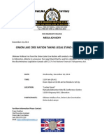 Nov 25-2014 Media Advisory_OLCN Litigation on C27