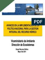 MinisterioAmb_Poliica ReC HIDRICOS